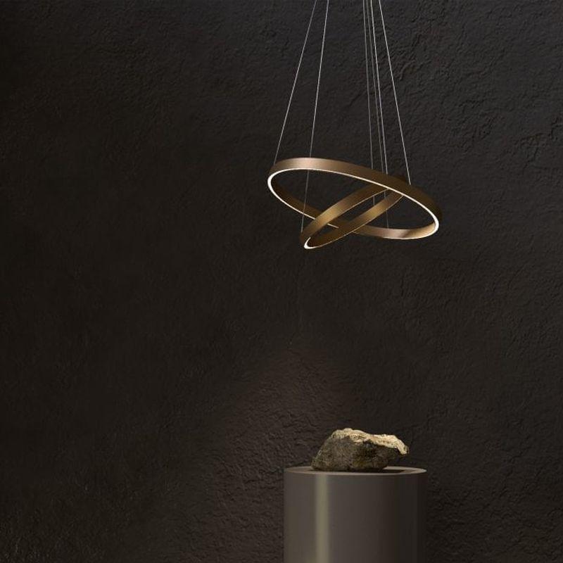 Maytoni-MOD058PL-L74BS4K - Rim - LED Gold 2 Metal Rings Pendant