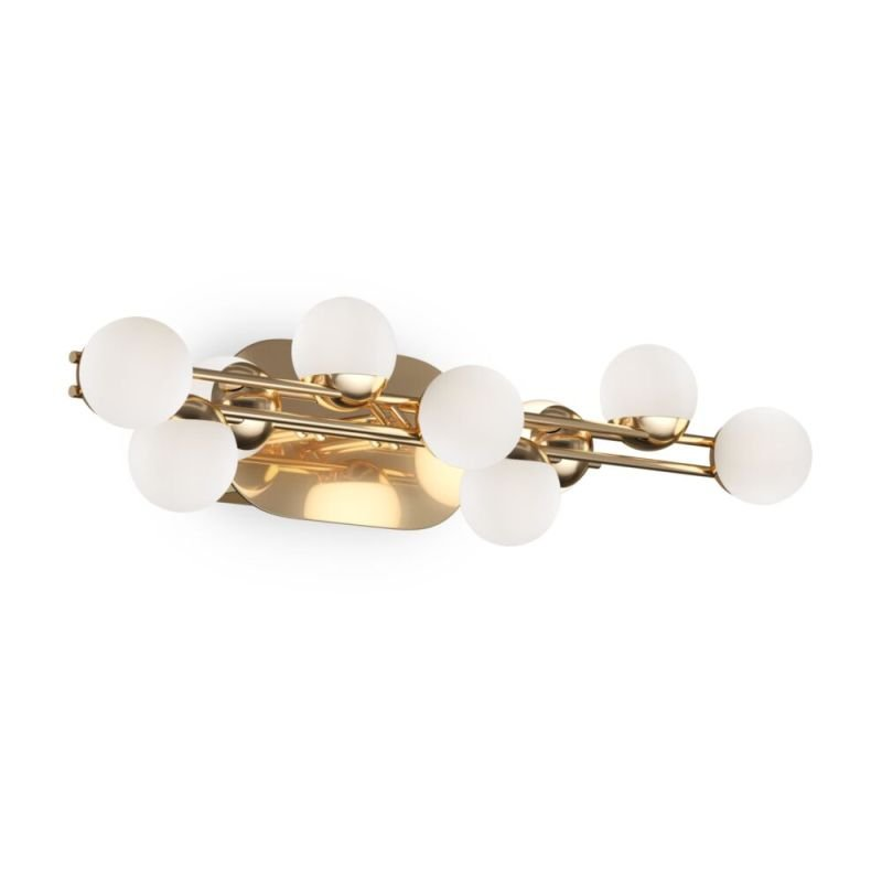 Maytoni-MOD081WL-L13G3K - Tessara - LED Frosted White Shades & Gold Wall Lamp
