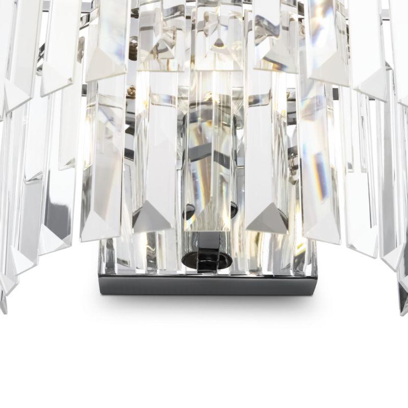 Maytoni-MOD085WL-01CH - Revero - Crystal & Painted Chrome Wall Lamp