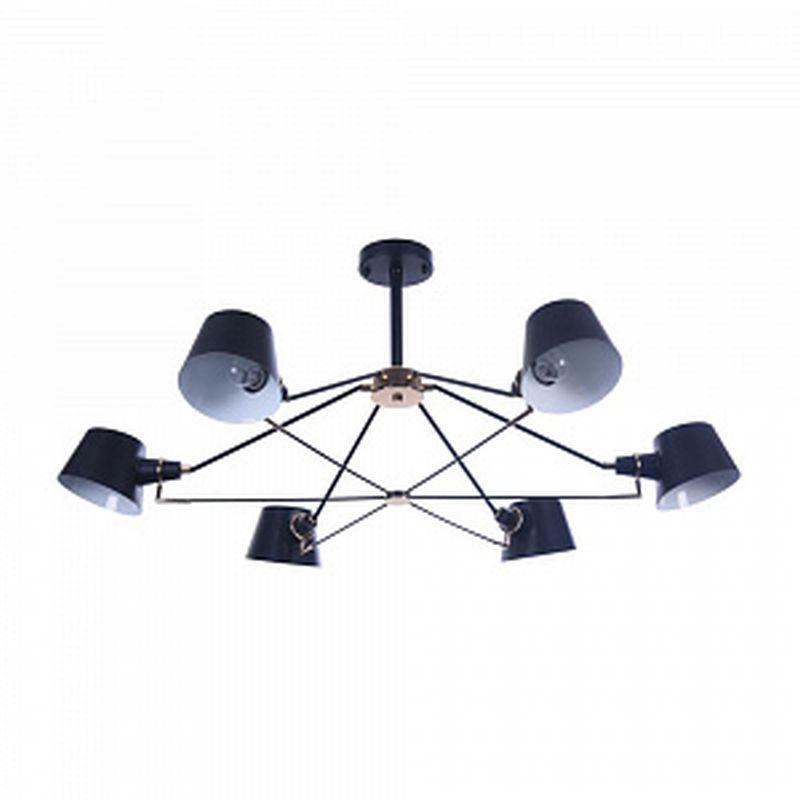 Maytoni-MOD134PL-06B - Abigail - Black & Gold 6 Light Ceiling Lamp