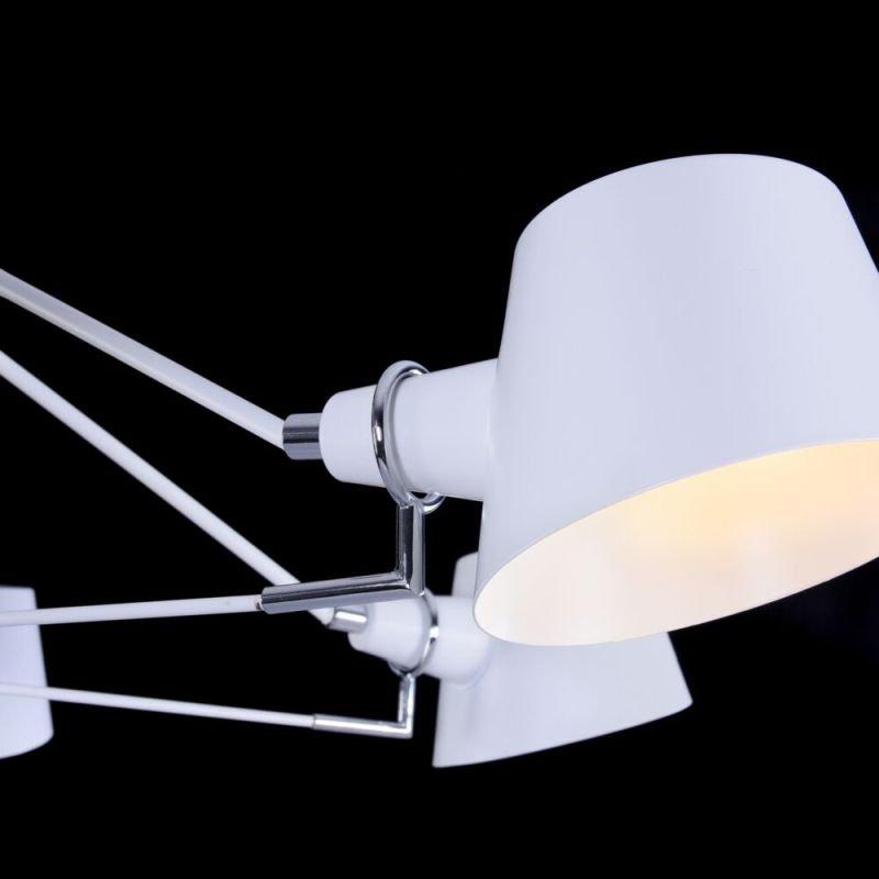 Maytoni-MOD134PL-06W - Abigail - White & Chrome 6 Light Ceiling Lamp