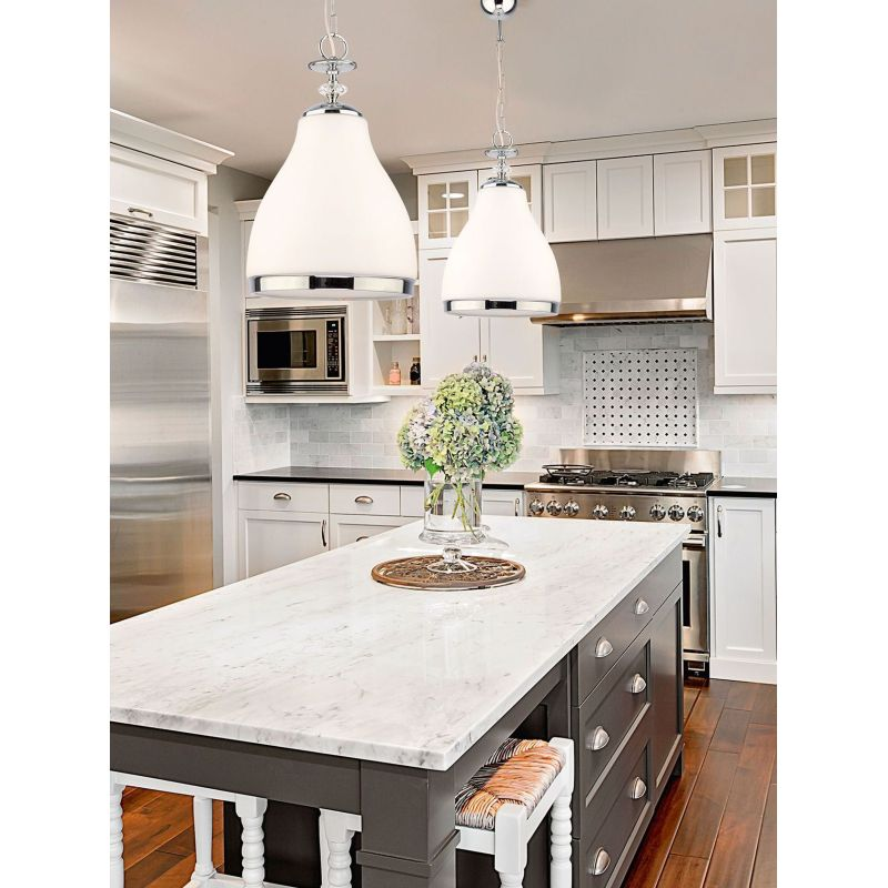 Prism-IS 1 T/C | 1568 - Isla - Clear Glass with Chrome Single Hanging Pendant