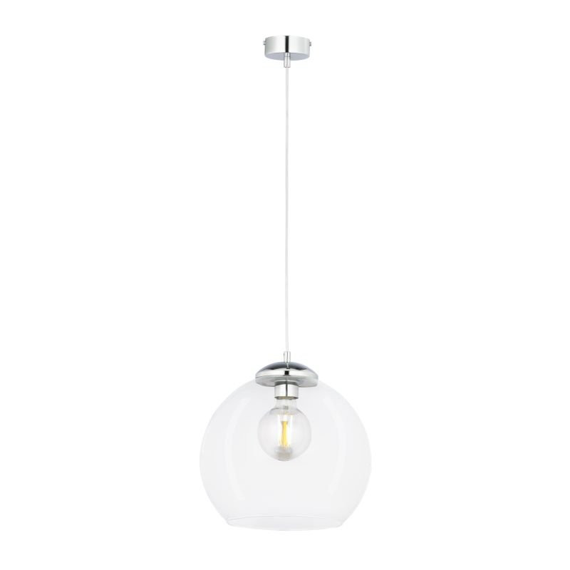 Prism-AS1 CH TR | 1783 - Asti - Transparent Glass with Polished Chrome Pendant