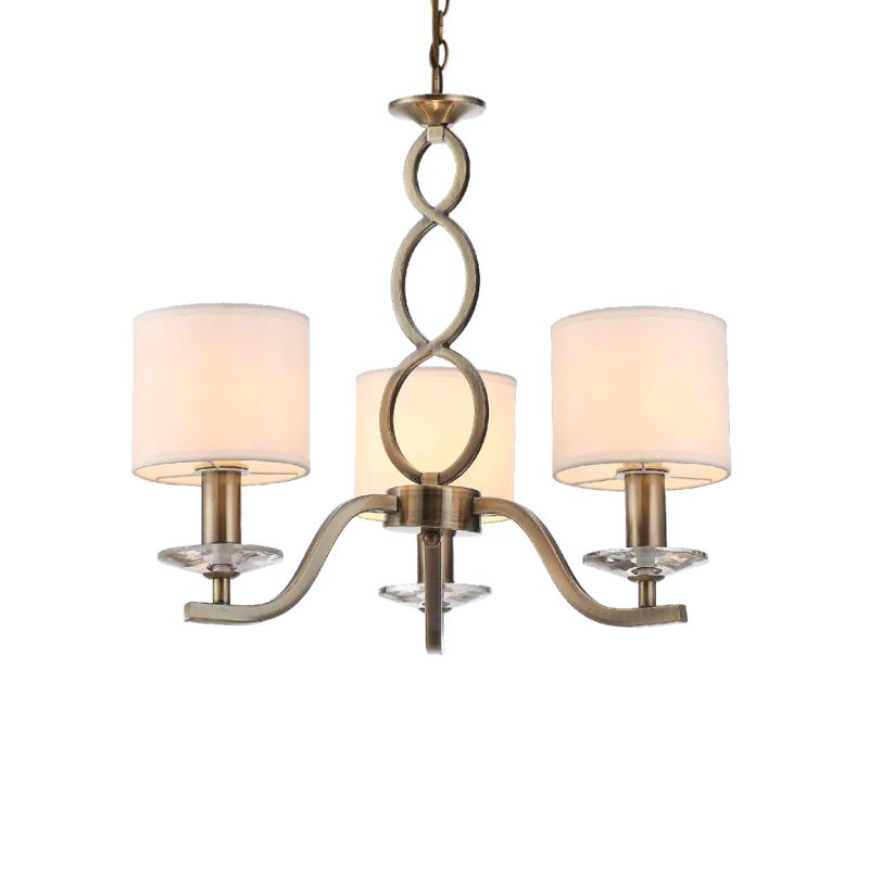 Prism-70053-052 - Tulip - White Shades with Antique Brass 3 Light Centre Fitting
