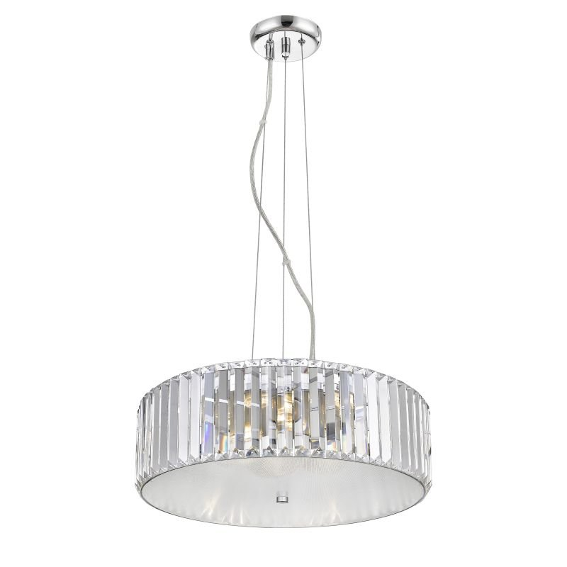 P0465-07A-F4AC - Hollywood 2 - LED Crystal with Opal Glass 7 Light Pendant