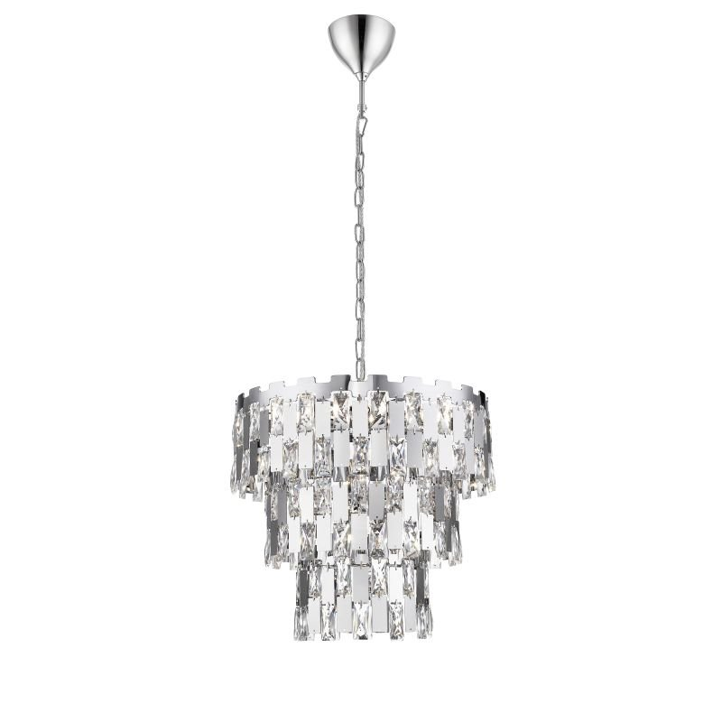 P0480-07A-F4AC - Las Vegas 1 - Crystal and Chrome 7 Light Chandelier