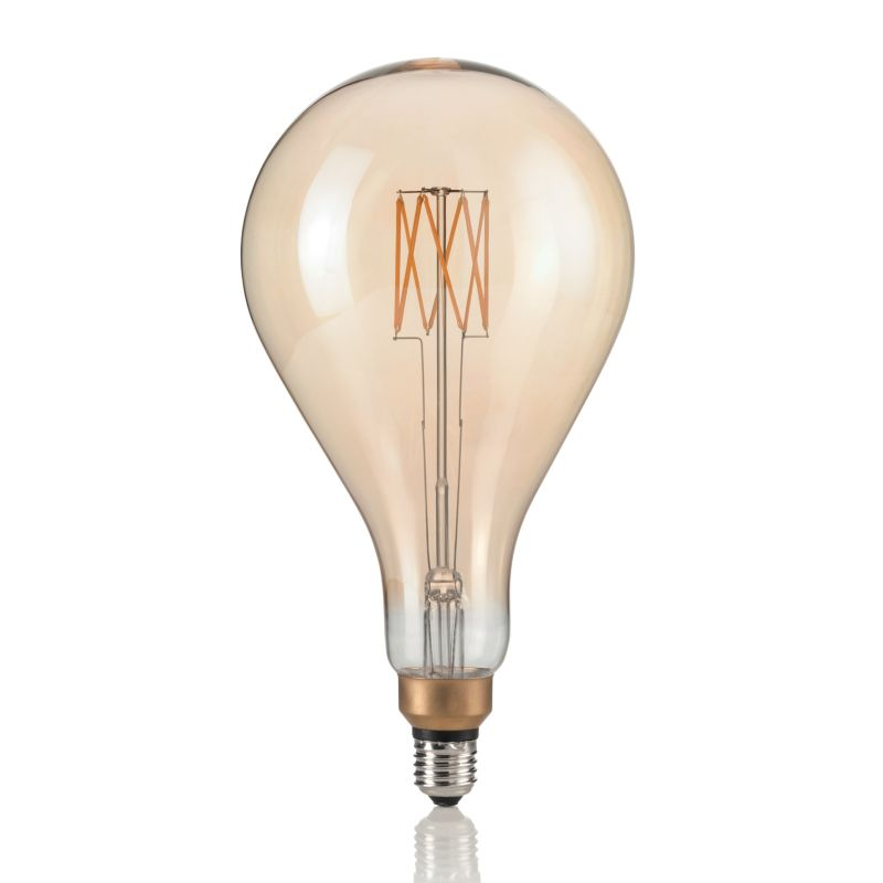 IdealLux-130163 - Ideal Lux - E27 Large Decorative Amber Bulb