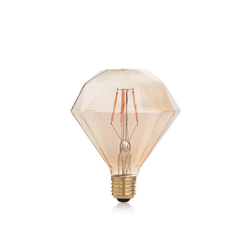 IdealLux-201269 - Ideal Lux - E27 Diamond Shape Amber Bulb
