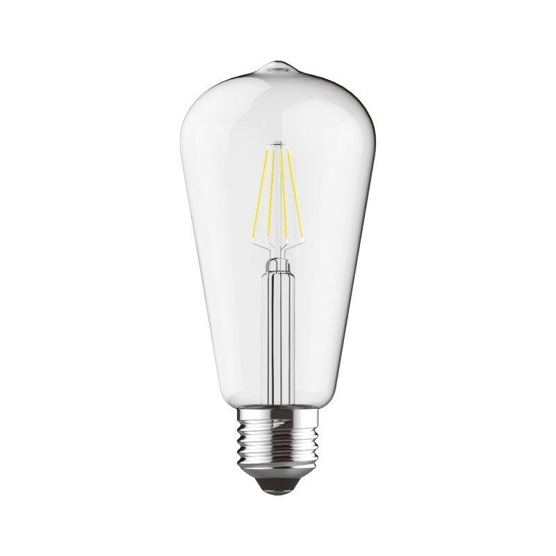 Luxram-1411491 - Luxram - E27 Dimmable Clear Pear Shade Bulb 6.5W
