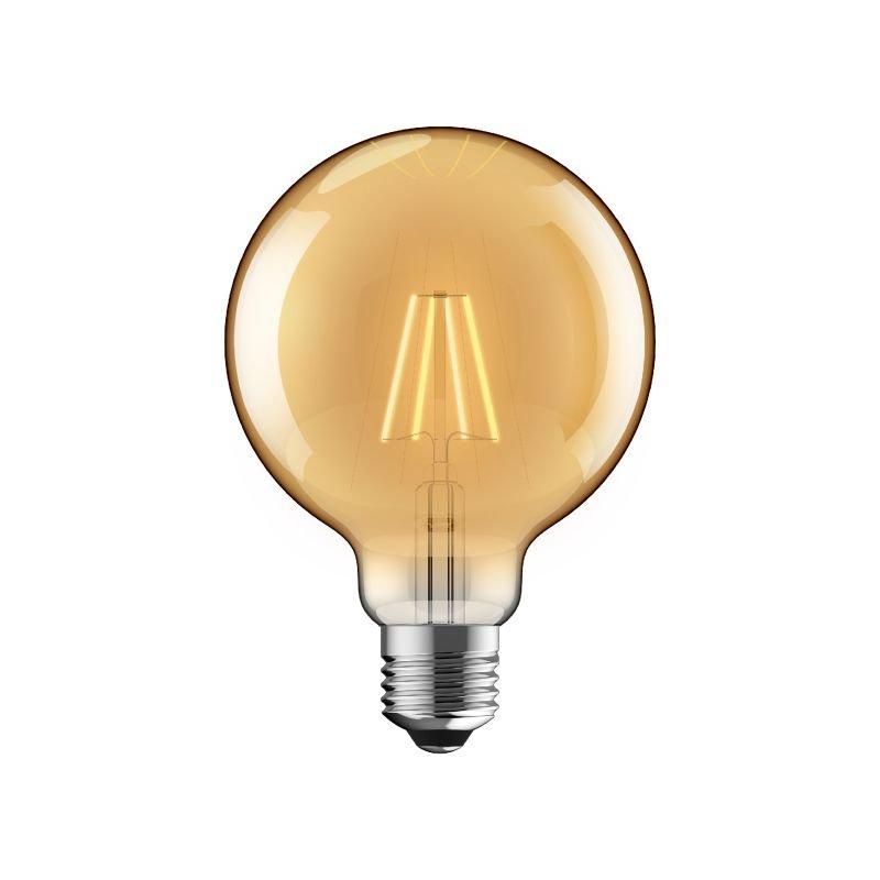 Luxram-1610327 - Luxram - E27 Dimmable Amber Small Globe Bulb 6.5W