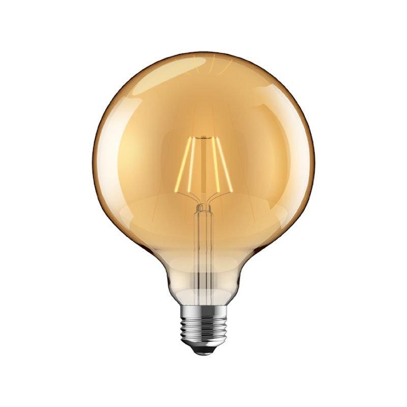 Luxram-1610377 - Luxram - E27 Dimmable Amber Big Globe Bulb 6.5W