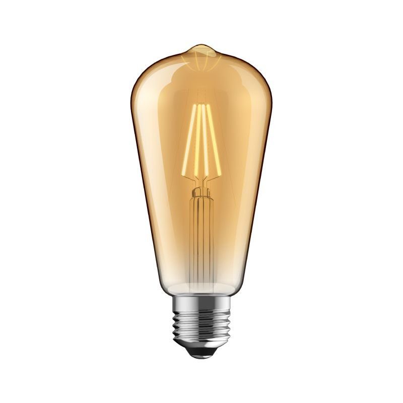 Luxram-1610417 - Luxram - E27 Dimmable Amber Pear Shade Bulb 6.5W
